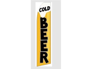 Banner Cold Beer 11.5 x 2.5, Puerto Rico