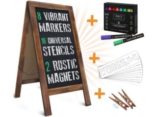 RUSTIC MAGNETIC A-FRAME CHALKBOARD, Puerto Rico