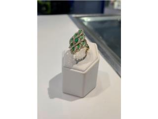 Lady's Stone Ring: 2.6D 10K, size 7.5'., Puerto Rico