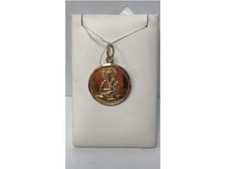 Medalla 18k imagen de virgen, Puerto Rico