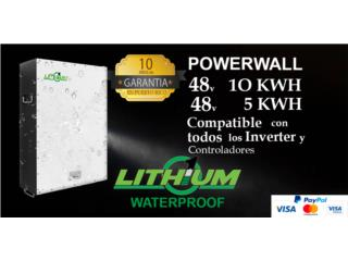 Lithium One Power Wall waterproof 48v-10k, Puerto Rico