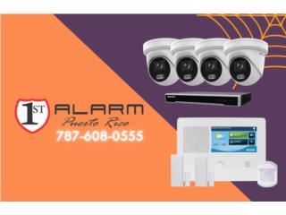 COMBO CAMARAS & ALARMA -- 1st Alarm PR, Puerto Rico