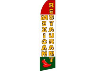 Banner MEXICAN RESTAURANT 2.5 x 11.5., Puerto Rico
