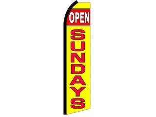Banner OPEN SUNDAYS  2.5 x 11.5. , Puerto Rico