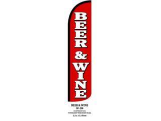 Banner BEER & WINE 2.5 x 11.5., Puerto Rico