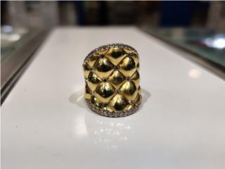 Sortija de diseñador 18k con diamantes, Puerto Rico