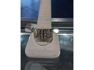 Sortija con Diamantes 14k size 12, Puerto Rico