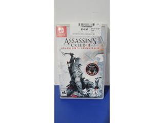 ASSASSINS CREED III SWITCH GAME, Puerto Rico
