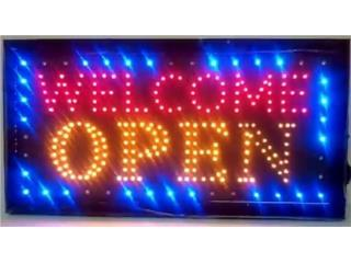 LED SIGN WELCOME OPEN 19, Puerto Rico