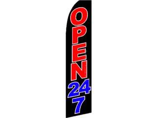 Banner Open 24 HOURS - 2.5' x 11', Puerto Rico