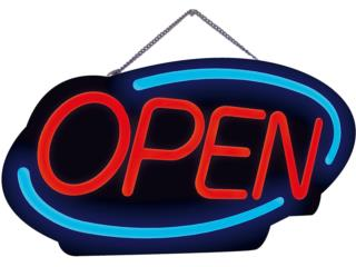 LED OPEN SIGN, OVAL 22.8, Puerto Rico