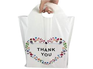FLORAL SHOPPING BAGS, PLASTIC THANK YOU, Puerto Rico