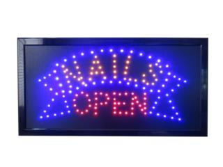 Led Sign NAILS OPEN 19 x 10, Puerto Rico