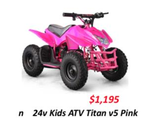 24v Kids Electric ATV  - Rosa - Verde , Puerto Rico