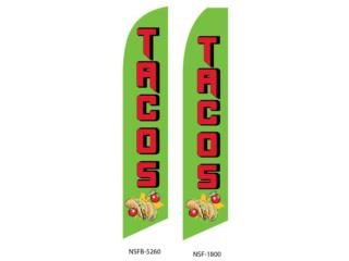 Banner  TACOS GN/RD/YW 2.5' x 11.5', Puerto Rico