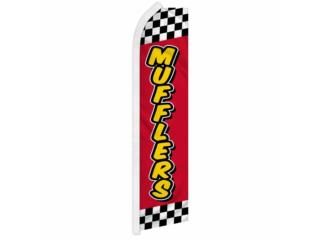 Banner Mufflers RD/YW/STIPES 2.5' x 11.5'., Puerto Rico