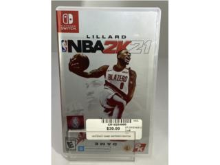 NBA2K21 Nintendo switch Game, Puerto Rico