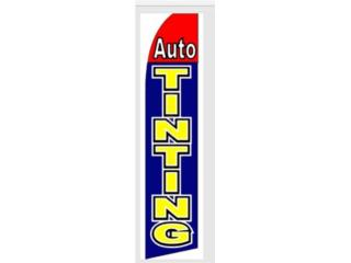 Banner AUTO TINTING BLU/RED/YW 2.5 x 11, Puerto Rico