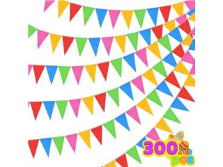 300 PENNANT FLAGS 375FT. 5 COLORS NYLON, Puerto Rico