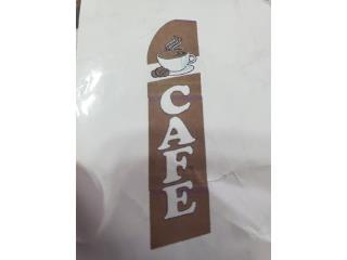 Banner CAFÉ BR/WH 2.5 x 11, Puerto Rico