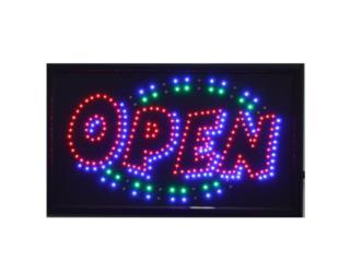 LED Sign OPEN SPLASH 21 x 13, Puerto Rico
