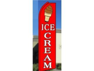 BANNER CHOCLATED  ICE CREAM 3' X 11'.5, Puerto Rico