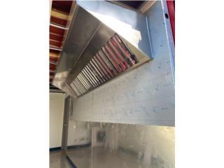 Campana de 8' con filtro y extractor; fabrica, Puerto Rico