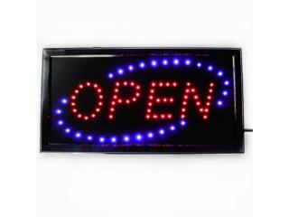 LED SIGN OPEN RD/BLUE  19, Puerto Rico