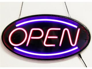 LED SIGN OVAL NEON OPEN 19, Puerto Rico