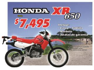 Honda - Motora XR650 2017 Puerto Rico