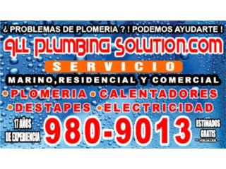 PLOMERIA Y DESTAPES 24 hrs EN PUERTO RICO - Instalacion Puerto Rico