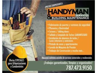 HANDYMAN SERVICES & BUILDING  - Instalacion Puerto Rico
