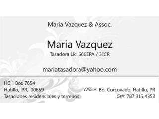 Maria E. Vazquez, Tasadora, 666EPA / 31CR - Orientacion Puerto Rico