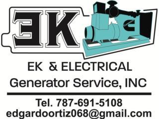 EK ELECTRICAL GENERATOR SRVICE - Mantenimiento Puerto Rico