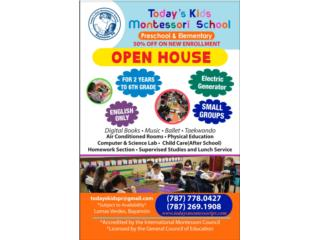 TODAY'S KIDS MONTESSORI SCHOOL - Clases - Cursos Puerto Rico