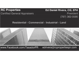 RC Properties - Tasadores de Bienes Raíces - Instalacion Puerto Rico