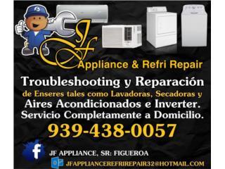 JF APPLIANCE & REFRI REPAIR - Mantenimiento Puerto Rico