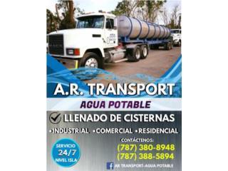 AR Transport Puerto Rico-Llenado de cisterna agua - Mantenimiento Puerto Rico