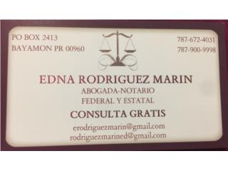 Abogada (consulta gratis) Edna Rodriguez Marin - Orientacion Puerto Rico