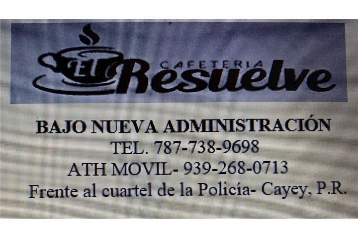 Cafetería El Resuelve. Coffee Shop, Cayey