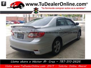Toyota Corolla 2013 Tipo S - Paga Solo $259 , Toyota Puerto Rico