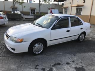 TOYOTA COROLLA LE 2001 BUENAS CONDICIONES, Toyota Puerto Rico