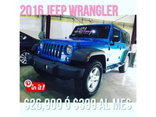 WRANGLER 2016 EN SOLO $ 26,900, Jeep Puerto Rico