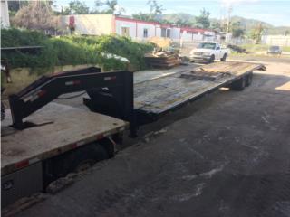 Plataforma Gooseneck 40 pies, Equipo Construccion Puerto Rico