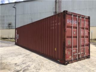 Vagones en acero de 40' High Cube, Equipo Construccion Puerto Rico