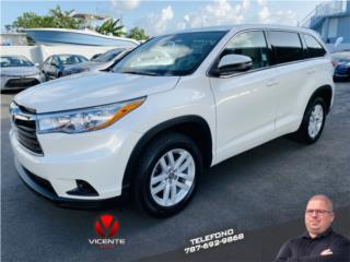 TOYOTA HIGHLANDER LE 4 CYLIN 2016, Toyota Puerto Rico