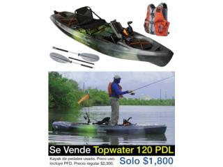 Botes  Kayak de Pedales - Topwater PDL 120 Puerto Rico
