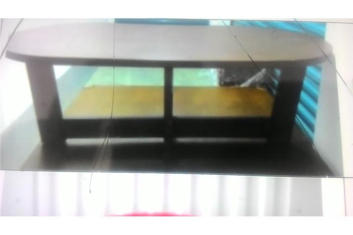 Mesa de sala en madera puerto rico for Mesas de madera para sala