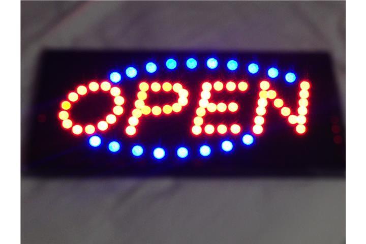 """Letrero De Open: Letrero De """"OPEN"""" En LED Puerto Rico"""