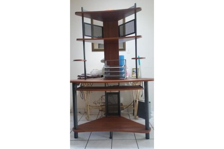Mueble de esquina para computadora puerto rico for Muebles para esquinas